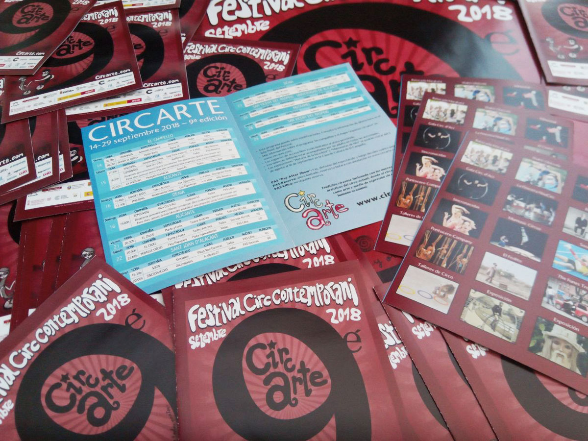 Programa de mano 9º Festival Circarte