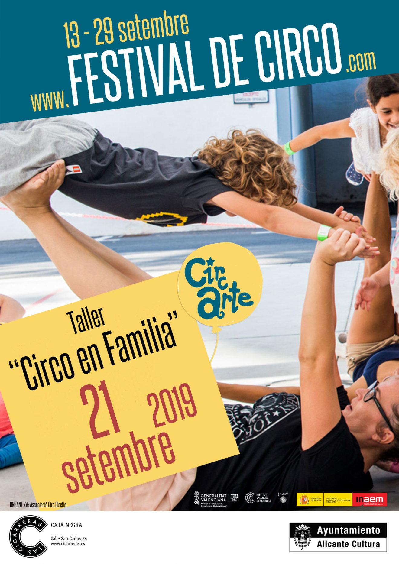 Cartel Taller Circo en Familia - Alicante